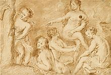 CIRCLE OF SIR PETER PAUL RUBENS, (FLEMISH 1577-1640), STUDY FOR 'THE DEATH OF ACTAEON'