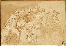 GIULIO ROMANO, (ITALIAN C.1499-1546), VENUS BEFORE JUPITER