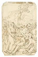 ATTRIBUTED TO GIOVANNI DOMENICO TIEPOLO, (ITALIAN 1727-1804), DEATH OF A SAINT