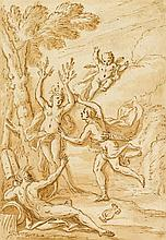 SIR JAMES THORNHILL, (BRITISH 1675-1734), APOLLO AND DAPHNE