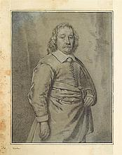 CORNELIS VISSCHER, (DUTCH 1629-1658), THREE QUARTER LENGTH PORTRAIT OF A GENTLEMAN