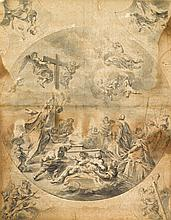 NEAPOLITAN SCHOOL, (LATE 17TH CENTURY), STUDY FOR A CEILING DECORATION