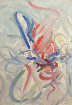 EMMET EDWARDS (American 1906-1981)  ABSTRACT COMPOSITION