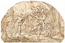 VENETIAN SCHOOL, (C. 1700), AENEAS AND ANCHISES FLEEING TROY