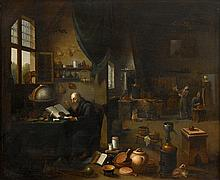 LEIDEN SCHOOL, (18TH CENTURY), THE ALCHEMIST