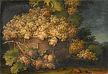 ITALIAN SCHOOL, (18TH CENTURY), STILL LIFE OF GRAPES IN A LANDSCAPE; A PAIR