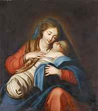 ROMAN SCHOOL, (17TH CENTURY), MADONNA AND CHILD
