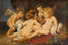 AFTER SIR PETER PAUL RUBENS, (FLEMISH 1577-1640), INFANT CHRIST WITH JOHN THE BAPTIST AND TWO ANGELS