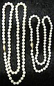 Two strands of pearls, , One average pearl size approximately 5.7mm, together with another strand with average pearl size approximately