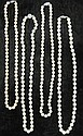 Group of four strands of cultured pearls, , Average approximate pearl size 6.3 mm, 6.3 mm, 6.7 mm, and 7 mm. All featuring 14 karat whi