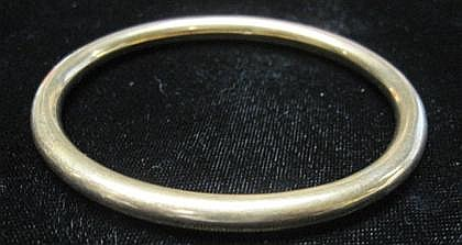 14 karat yellow gold bangle, ,