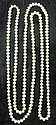One strand of cultured pink pearls, , Single strand off round pink pearls. Average approximate pearl size 8.2 mm x 6.5 mm.
