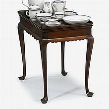 Queen Anne mahogany tea table, new england, 18th century and later