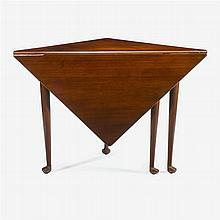 Queen Anne walnut corner or handkerchief table, southern, probably virginia, mid 18th century