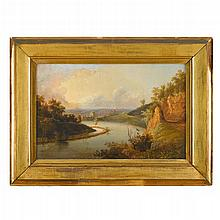 American School 19th century, view of the city of reading, pa, as seen from lover's leap