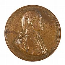 Bronzed copper John Paul Jones naval mint medal, marked to obverse and verso,