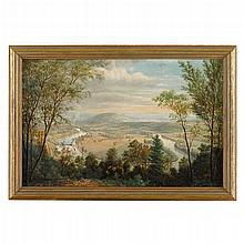 John Heyl Raser (1824-1901), view of poplar neck, neversink mountain, reading, pa
