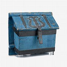 Blue painted Conestoga wagon box, circa 1800