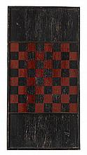 Three polychrome painted wooden gameboards, 19th/20th century