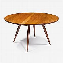 George Nakashima (1905-1990), Round Turned-Leg Cherry Dining Table, 1957