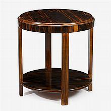 Art Deco macassar ebony veneered and stained wood side table, circa 1930