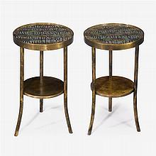 Philip (1907-1987) and Kelvin (b. 1937) LaVerne, pair of eternal forest side tables, new york, circa 1960s