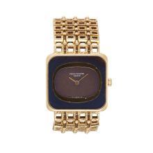 A lapis lazuli and eighteen karat gold bracelet watch, Patek Philippe,