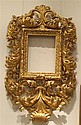 Large and impressive carved giltwood Florentine style frame, , With large and bold acanthus scrolls in the typical rococo style.