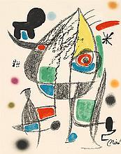 TWO PRINTS JOAN MIRÓ, (SPANISH, 1893-1983),
