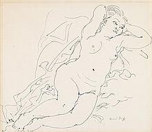 RAOUL DUFY, (FRENCH, 1877-1953), NUDE