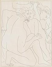 FOUR PRINTS PABLO PICASSO, (SPANISH, 1881-1973),