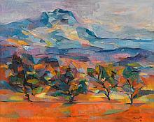 JEAN MARZELLE, (FRENCH, B. 1916), MOUNT SAINT VICTOIRE