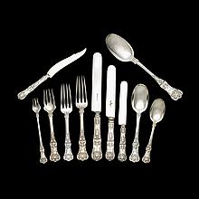 Sterling silver flatware service, Charles Grosjean for Tiffany & Co., New York, NY, 1885