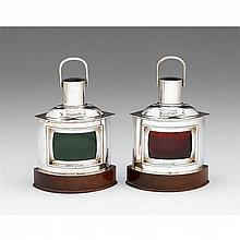 Pair of George V silver and wood caddies, Ernest Arthur Jacob, London, 1930-31
