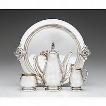 Sterling silver tea service, International Silver Co., Meriden, CT, first half 20th century