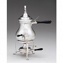 George V silver tea kettle with whistle, Herbert Edward & Frank Ernest Barker, Chester, 1910-11