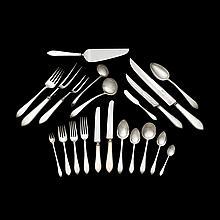 Sterling silver flatware service, Tiffany & Co., New York, NY, 1901