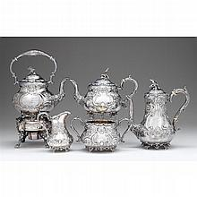 Fine Victorian silver tea and coffee service, H.J. Lias & Son, London, 1859-60