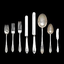 Sterling silver flatware service, Tiffany & Co., New York, NY, 1910