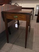 Federal inlaid mahogany pembroke table, circa 1790