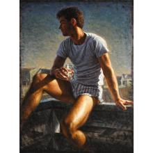 TWO ORIGINAL WORKS PETER SCHAUMANN, (AMERICAN 20TH CENTURY), OCEAN CITY