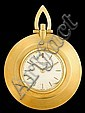18 karat yellow gold pocket watch, Piguet, , Circular case, off-white face with dash dial, signed by the maker, polished gold bezel, me