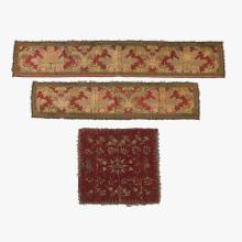 Collection of Continental and Oriental tapestry panels and textile fragments, 17th-19th century