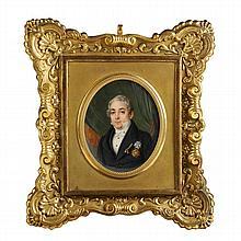 Jean-Baptiste Troivaux (1788-1860), portrait miniature of a gentleman