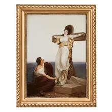 A large Berlin (K.P.M.) painted porcelain plaque, Martyr's Farewell, late 19th century, signed Carl Meinelt
