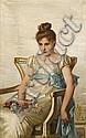 GIOVANNNI COSTA, (ITALIAN 1833-1893), REVERIE