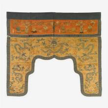 A fine Chinese Kesi embroidered door surround, 17th century