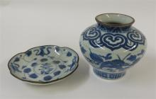 A Chinese blue and white glazed porcelain baluster jar, 18th century