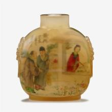 A Chinese inside painted agate snuff bottle, signed ye zhongsan, 19th/20th century