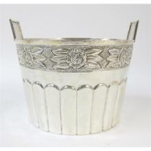 Mexican sterling silver ice bucket, Alfredo Ortega and Sons, Mexico City, mid 20th century